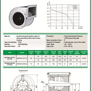 DH120A1-AGT-01 FS120 centrifugal blower fans Forward curved Dual Inlet fs120 make fans-tech