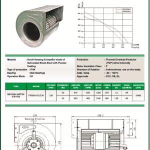 DH133A1-AGT-01 FS133 -190 FS133P0000 centrifugal blower fans Forward curved Dual Inlet fs133 make fans-tech