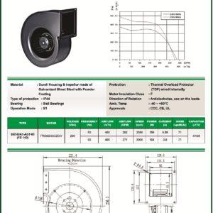 SH140A1-AGT-01 FD140 FD140 centrifugal blower fans Forward curved Single Inlet FD140 make fans-tech