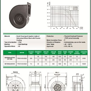 SH180A2-AGT-03 FD180 FD180 centrifugal blower fans Forward curved Single Inlet FD180 make fans-tech