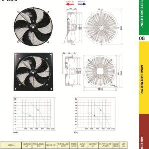 YSWF102L50P4-625N-550 YSWF102L50P4-625N-550S 550T 22″ 415V Suction 220V Throw Type Fan axial fans