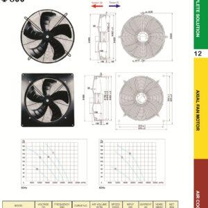 YSWF127L65P4-920N-800 - 415V Suction Throw Type Fan axial fans