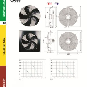 YSWF127L80P6-980-900 415V Suction Throw Type Fan axial fans