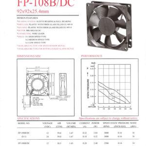 FP-108 B/DC 92 x 92 x 25.4mm commonwealth Taiwan delhi mumbai chennai kolkata bhopal kanpur indore pune chandigarh