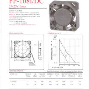 FP-108 I/DC 25 x 25 x 10mm