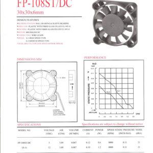 FP-108 ST/DC 30 x 30 x 6mm